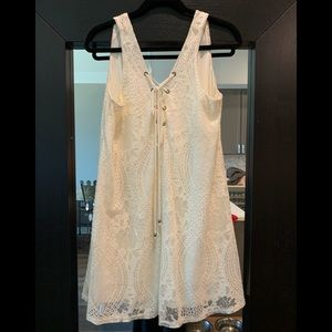Sporano Cream Lace Swing Dress